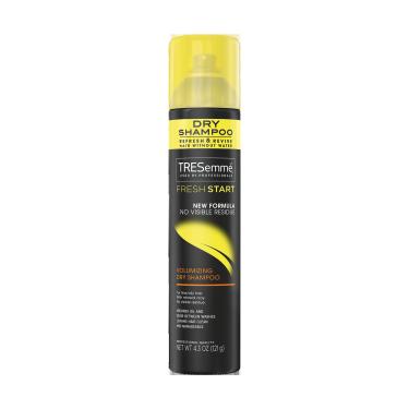 A 4.3oz can of TRESemmé Fresh Start Volumizing Dry Shampoo front of pack image