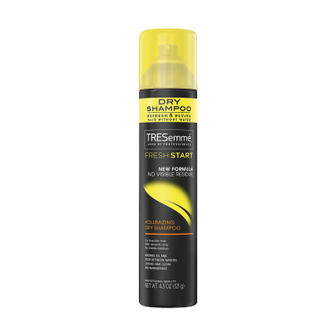 A 4.3oz can of TRESemmé Fresh Start Volumizing Dry Shampoo front of pack image