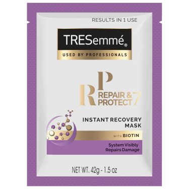 A 1.5oz bottle of TRESemmé Repair & Protect 7 Mask Sachet front of pack image