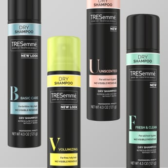 Product shot of TRESemmé dry shampoo collection